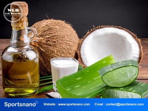 Cáchlàm đẹp bằng nha đam và dầu dừa