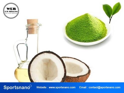 Cách làm đẹp với bột trà xanh và dầu dừa hiệu quả nhất