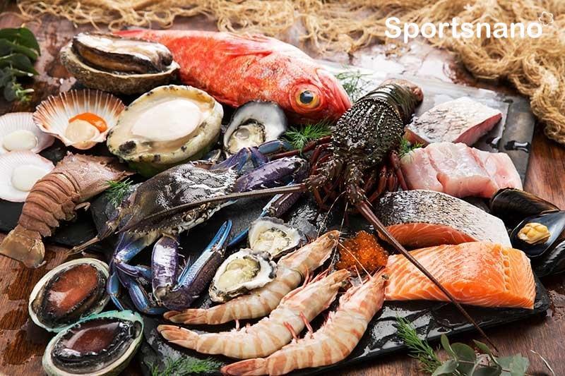 Hải sản giàu protein, canxi, omega 3, là nguồn cung cấp sắt và kẽm tự nhiên